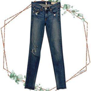 Rag & Bone skinny jeans in destroyed size 24